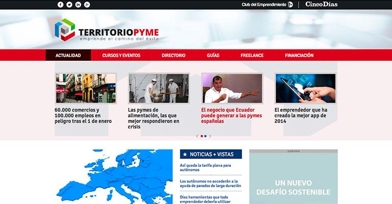 """</p> <h3 style=""""text-align:center;padding-top:5px;"""">Periódico online: Territorio PYME (con Cinco Días)</h3> <p>"""
